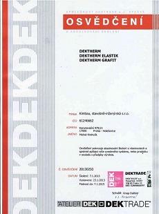 Certifikáty DEKTRADE