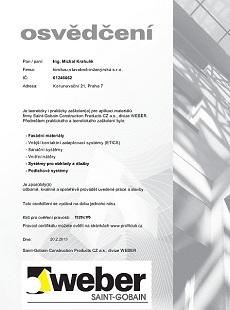 Certifikáty Weber Terranova