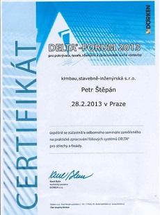 Certifikát Delta-forum<
