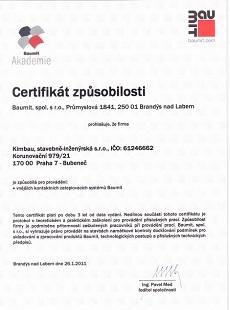 Certifikát Baumit